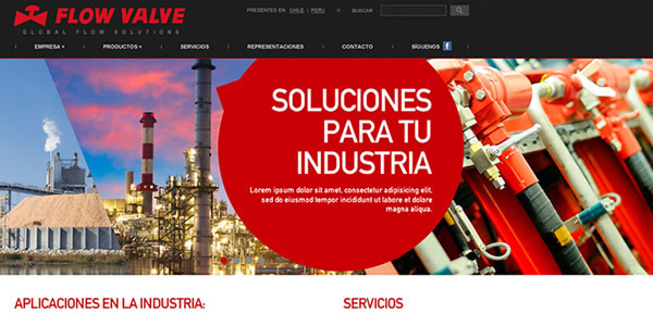 portada sitio web flowvalve.cl